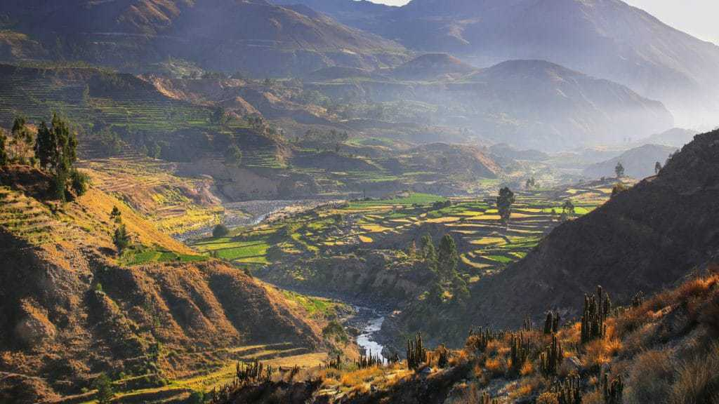 View of the Colca Canyon Trek by morning