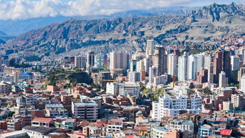 La paz city tour in Bolivia