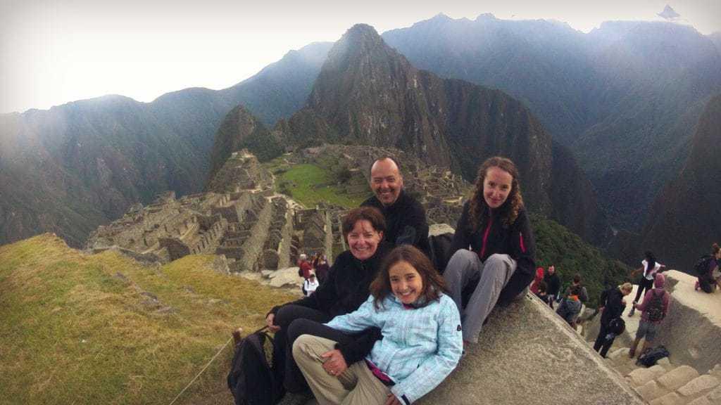 Family at Machu Picchu