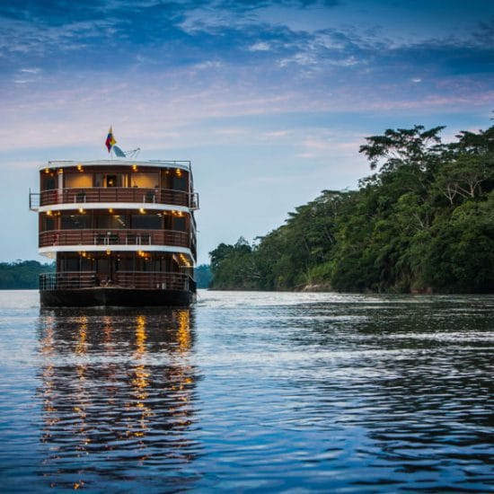 Anaconda cruise ship in Amazon