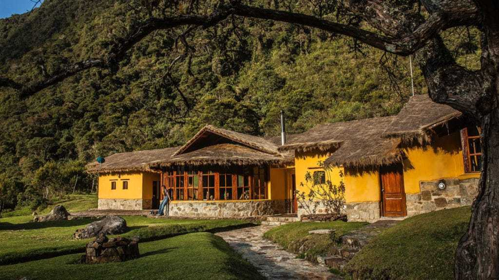 The Portada Mountain Lodge along the Salktantay Trek to Machu Picchu