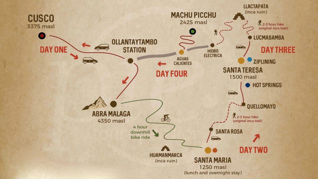 inca jungle trail map
