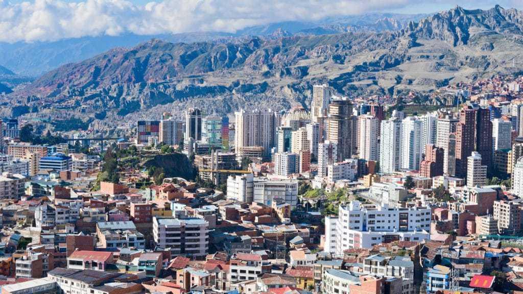 La paz city tour in Bolivia