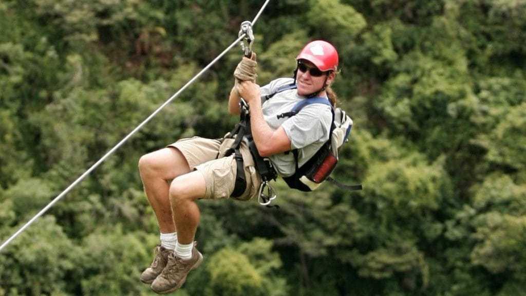 Ziplining in Peru on the Inca Jungle Trail to Machu PIcchu