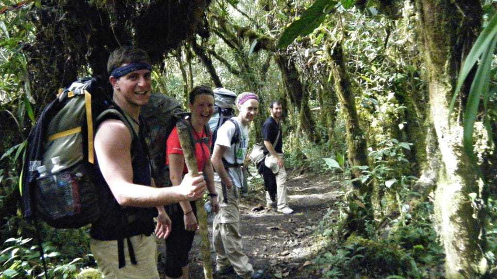 pie experiences Group Hiking the Inca Jungle Trek to machu picchu