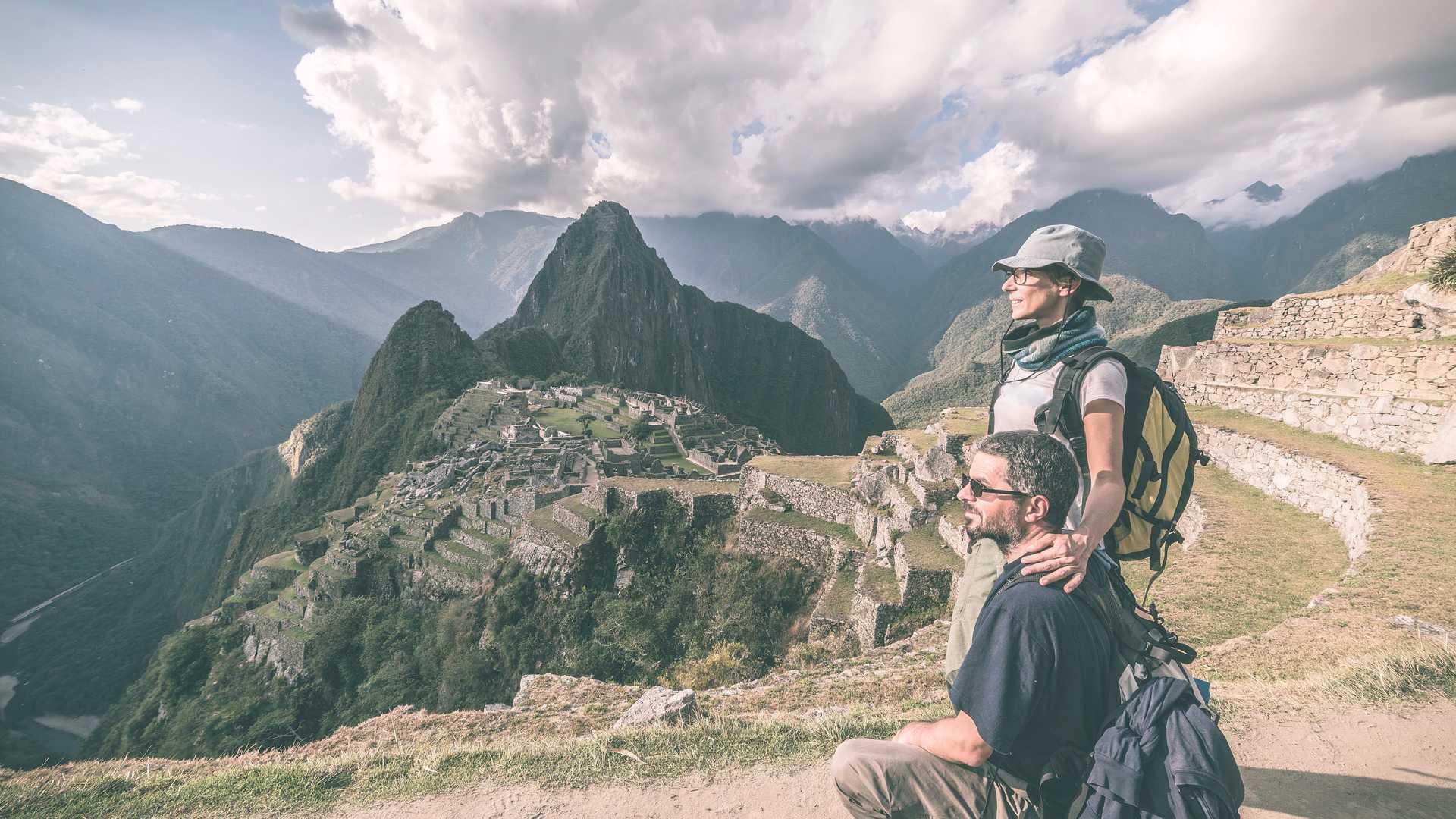 Classic Inca Trail Trek to Machu Picchu - Couple at Machu Picchu