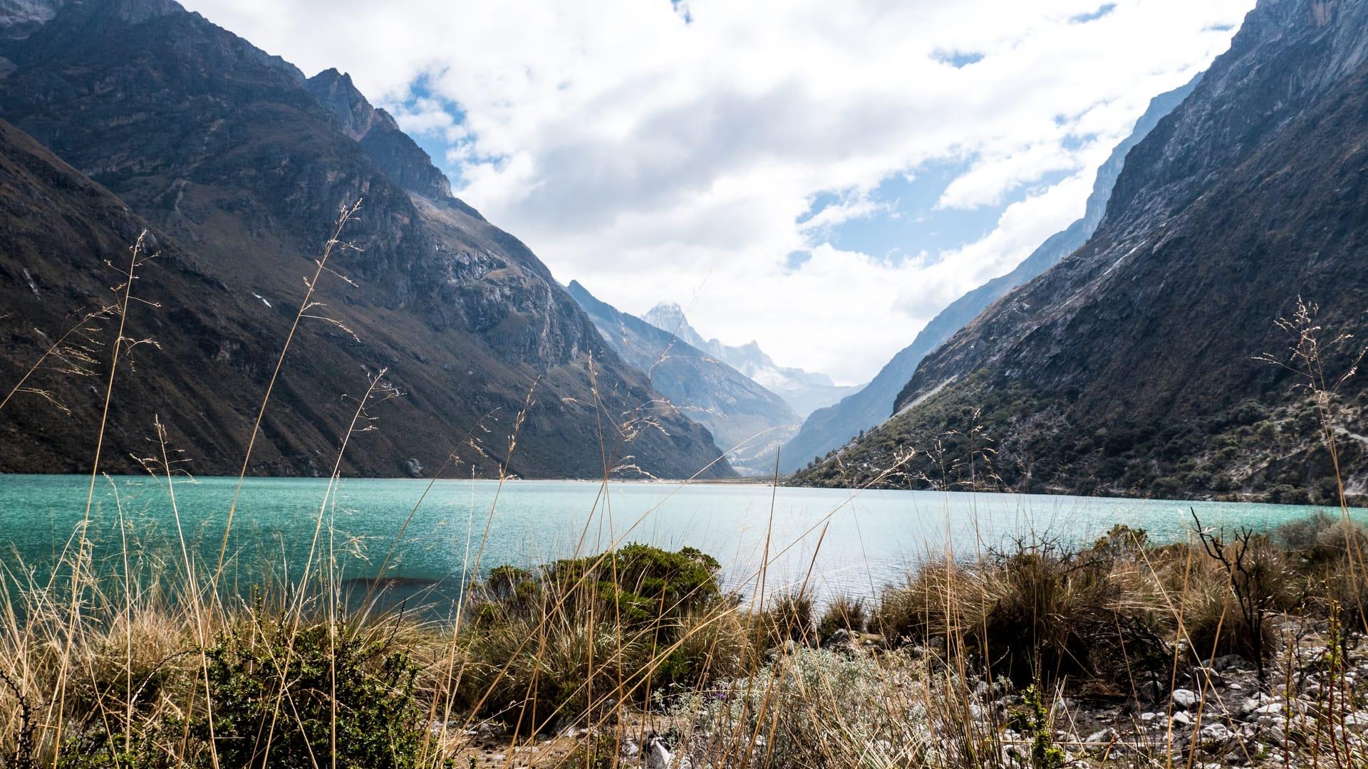 The Santa Cruz Trek in Huaraz - The View Across a Blue Lake