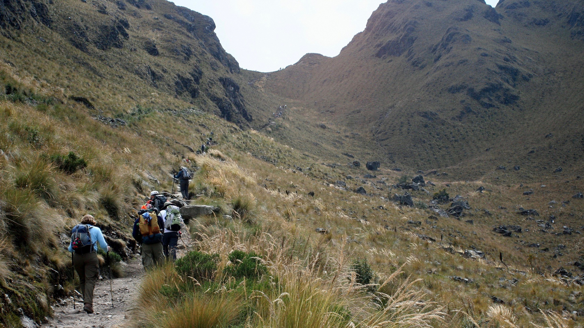Death woman´s pass on inca trail