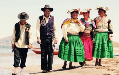 Communauté sur le lac Titicaca