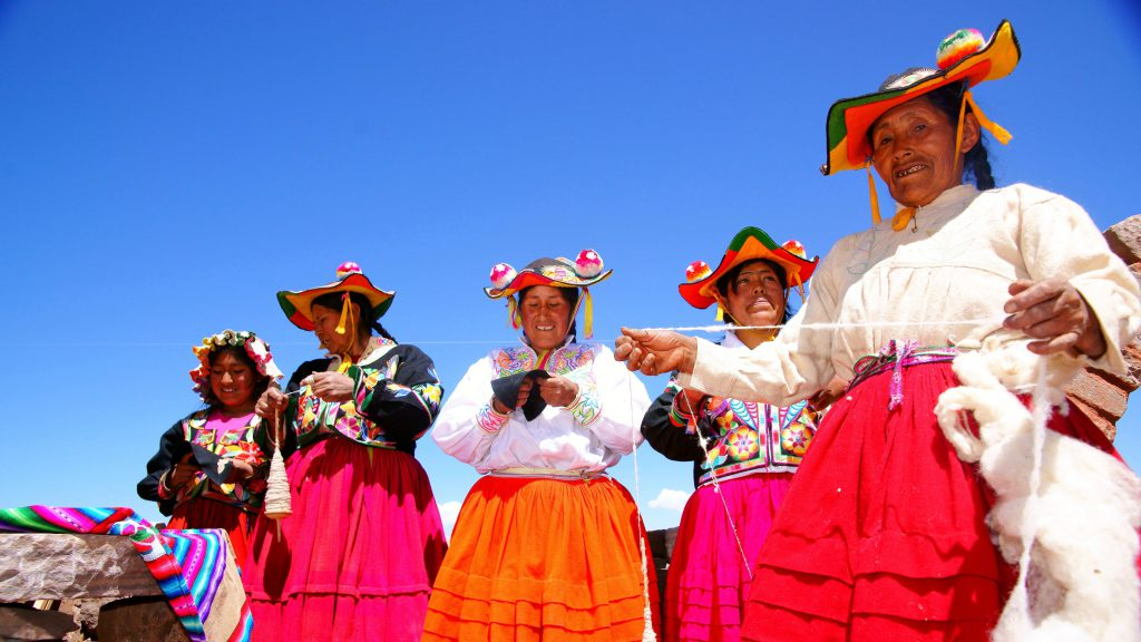 Local ladies at Llachon community