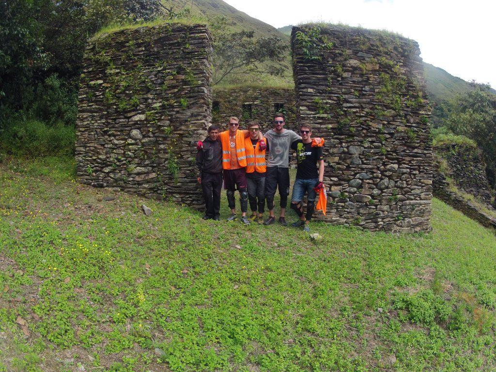 Inca Jungle Trail - Jungle trail trekkers at Llactapata.