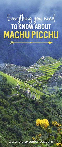 Machu Picchu information - Pinterest image