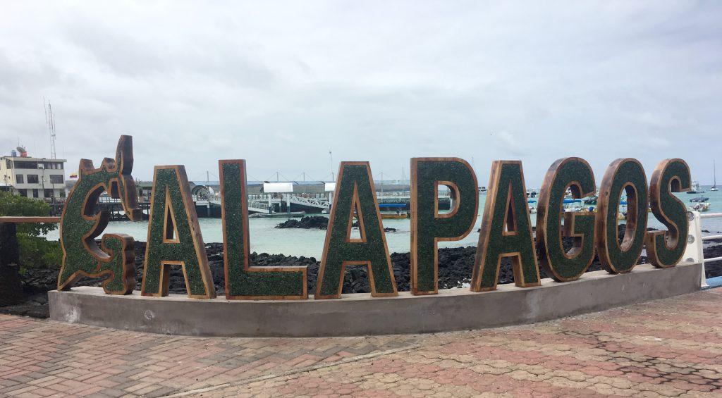 Galapagos Islands tourism - Galapagos sign.