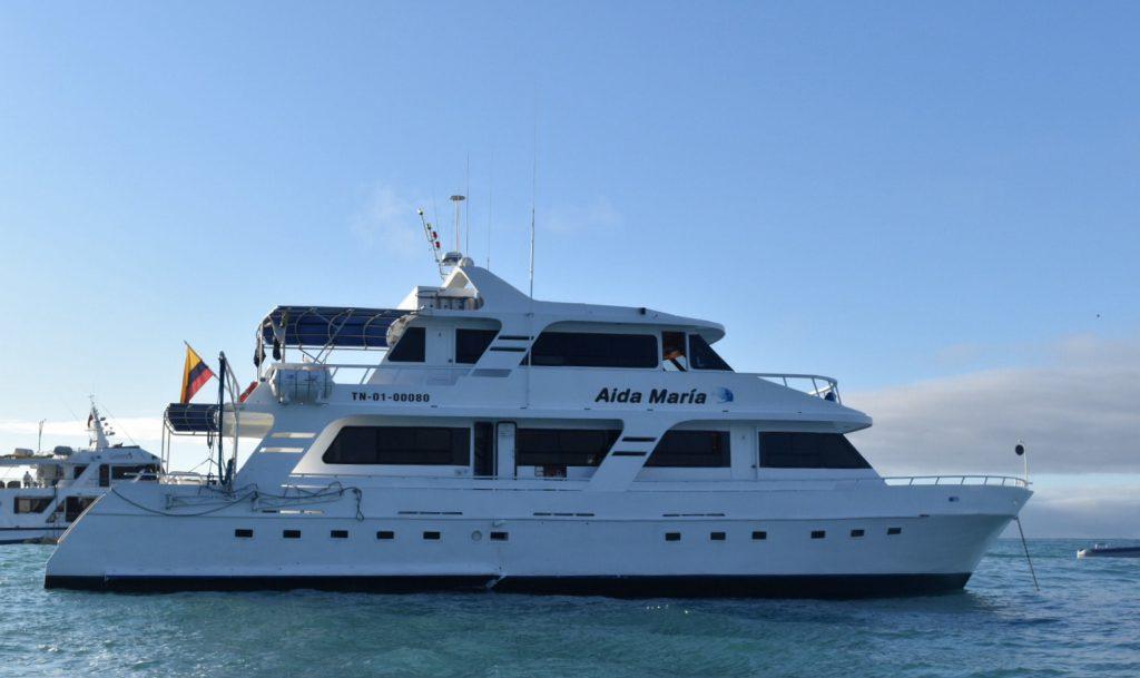 Galapagos Islands tourism - Cruise boat.