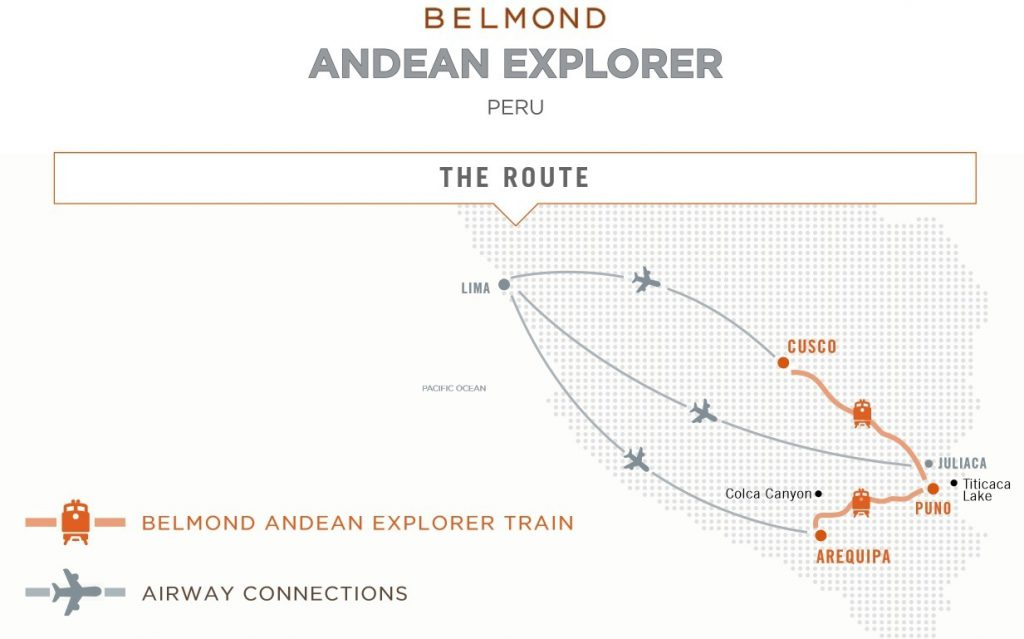 Map Belmond Andean Explorer