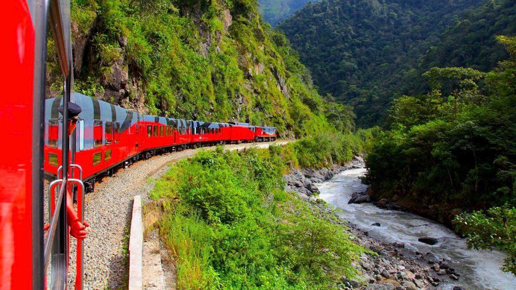 Ecuador Cruise Train, Tren Crucer, makes its way through cloud forest.