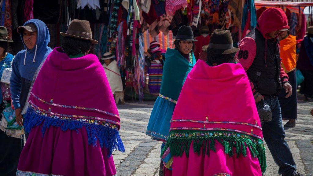 Ecuador Cruise Train - Women in traditional indigenous dress.