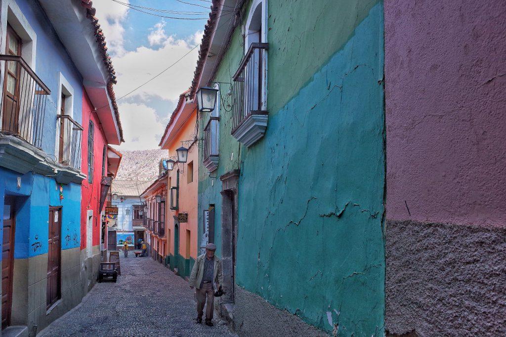 Jaen Street in La Paz Bolivia