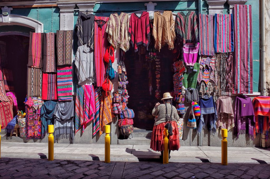 witches market in La Paz, Bolivia