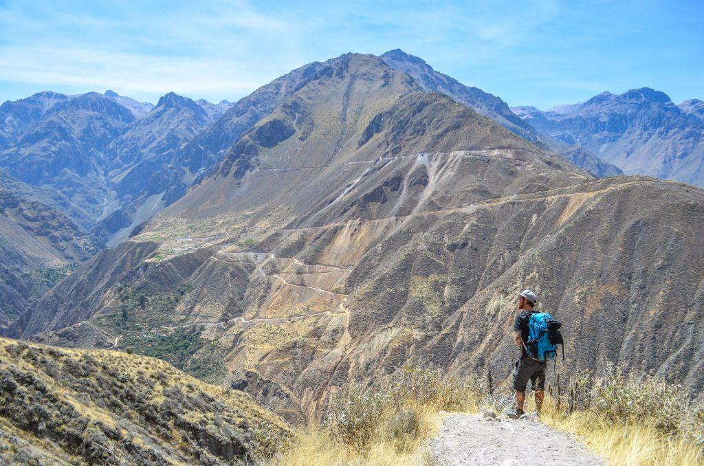 Colca Canyon trek - Gazing across the Colca Canyon.