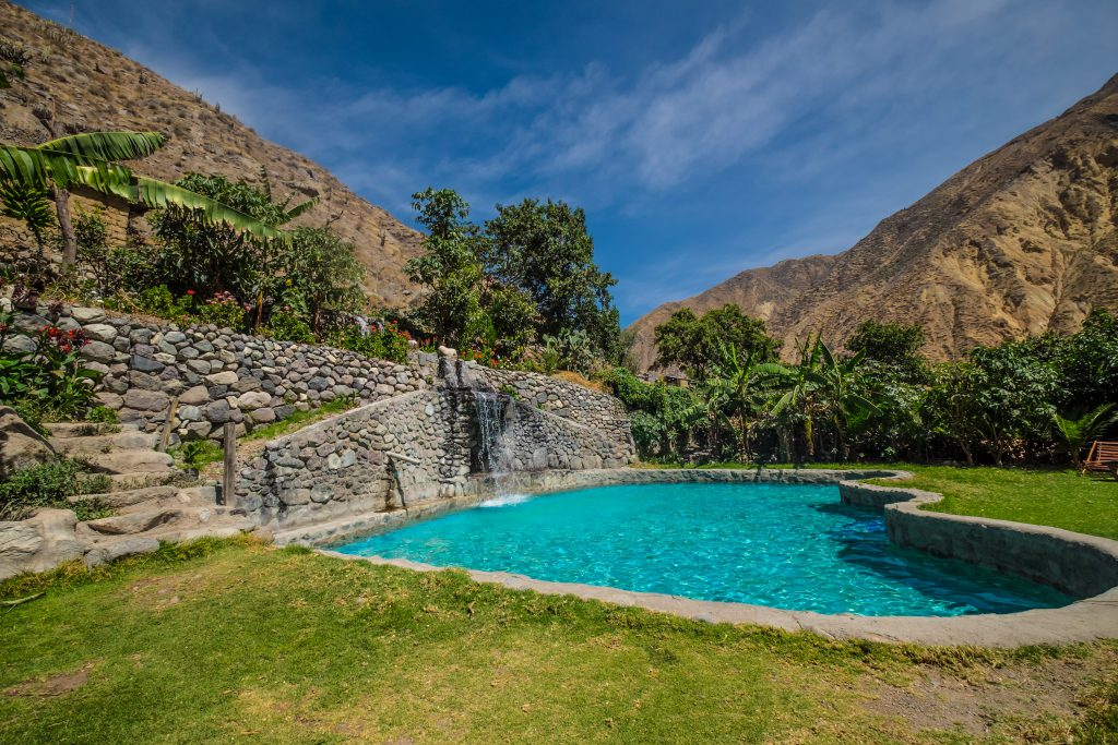 Colca Canyon trek - Jardin el Eden pool.