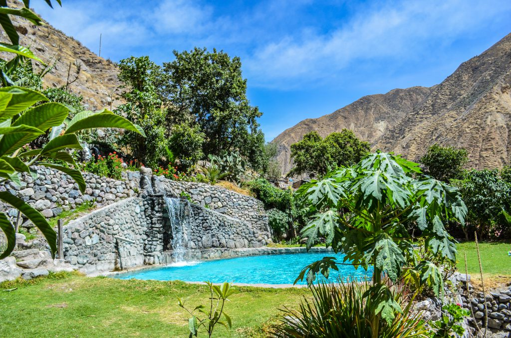 Colca Canyon trek - Pool at Sangalle.