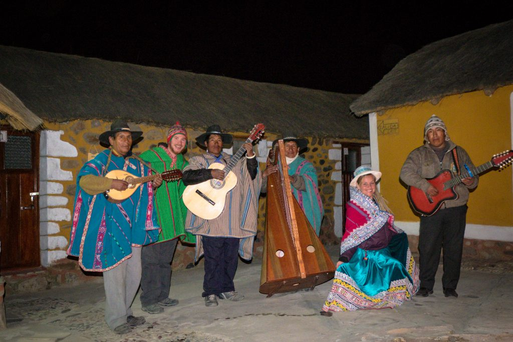 Homestay tours in Colca Canyon - Hanging out with the local band.