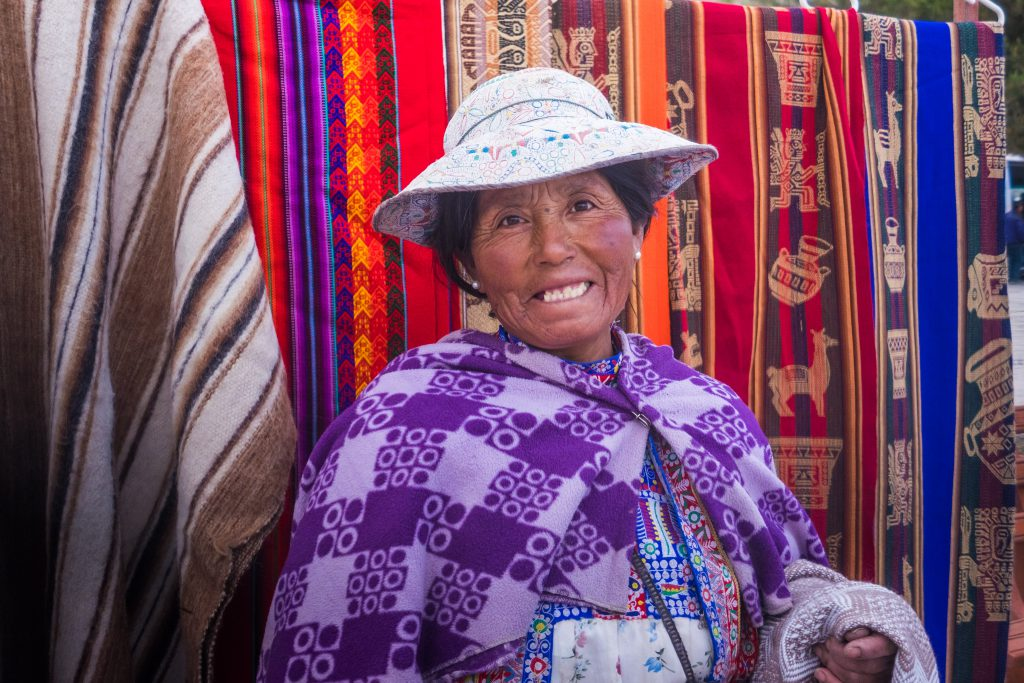 Homestay tours in Colca Canyon - Smiling local in Yanque.