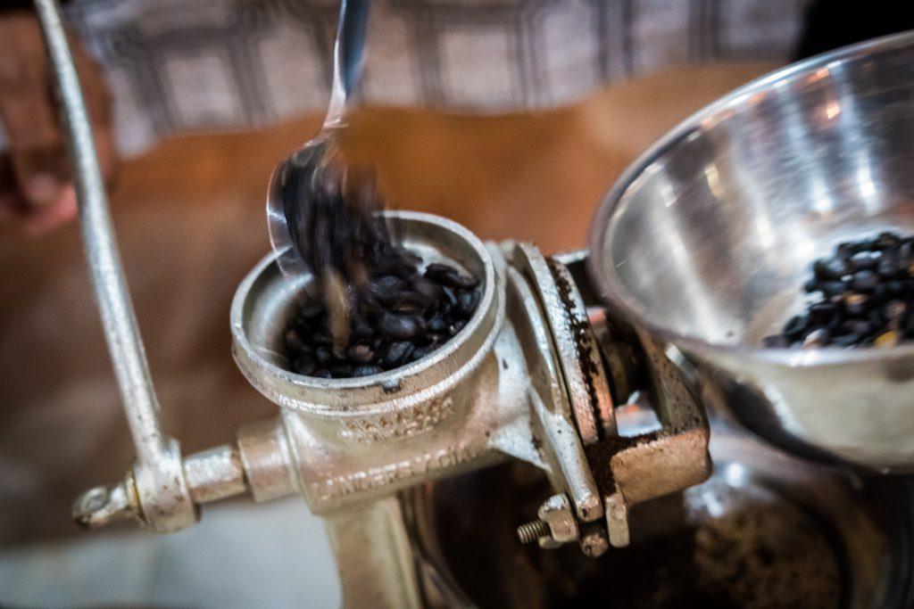 New Inca Trail to Machu Picchu, Carcel Trek - Coffee making.