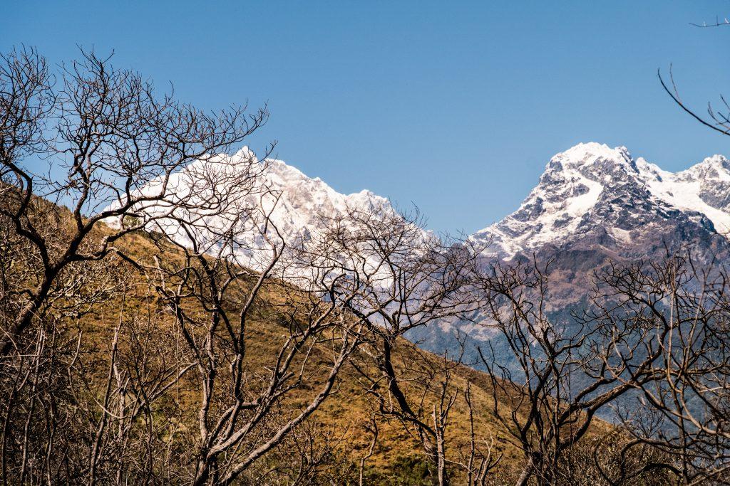 New Inca Trail to Machu Picchu, Carcel Trek - Snowy mountains.