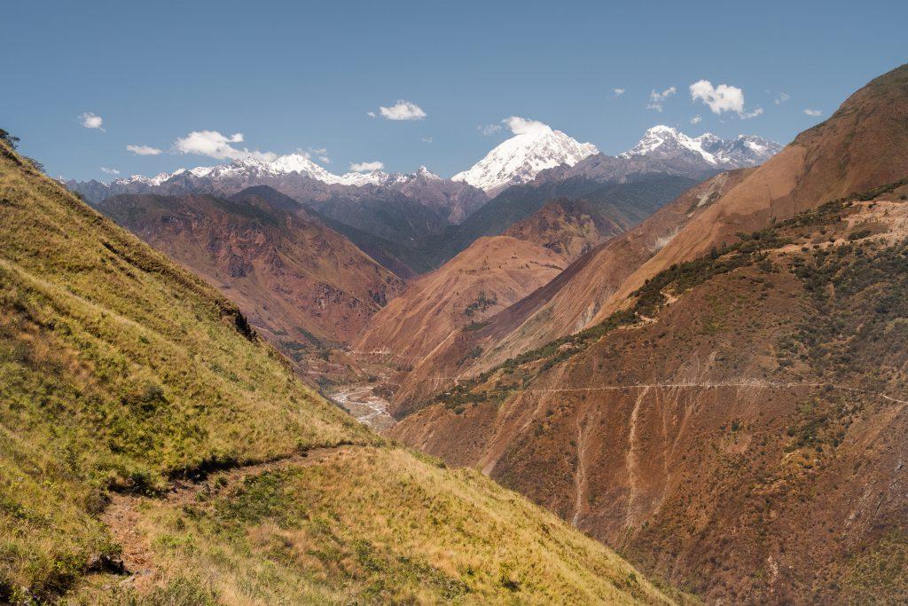 New Inca Trail to Machu Picchu, Carcel Trek - Spectacular mountain scenery.