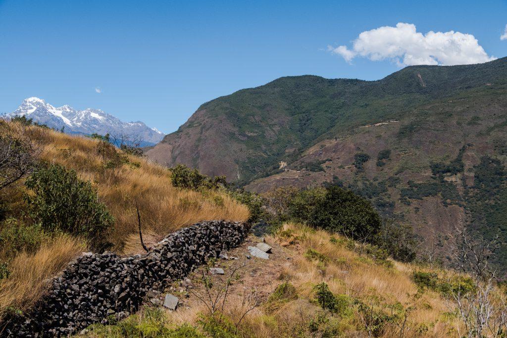 New Inca Trail to Machu Picchu, Carcel Trek - Mountain views and Inca walls.