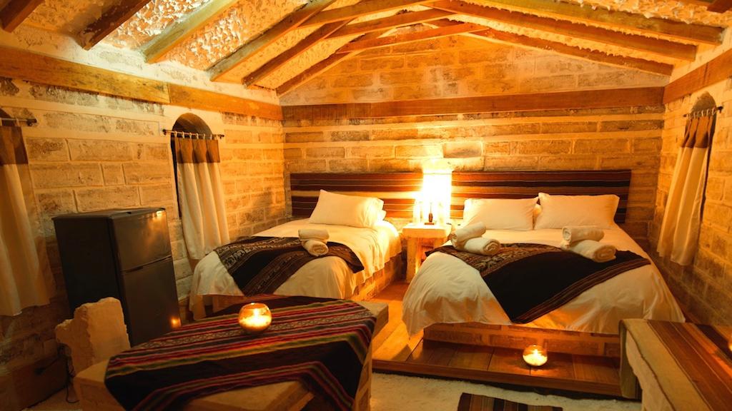 Comfortable bedrooms at Tambo Coquesa Lodge - Uyuni trip 3 days